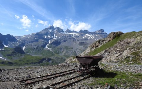 wagon mines de Salanfe